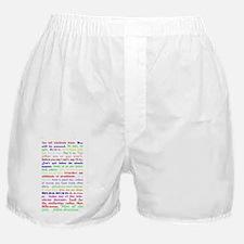 White Slogan Journal Back Boxer Shorts