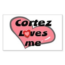 cortez loves me Rectangle Decal