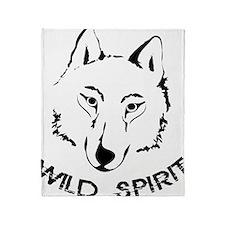 wolf wild spirit pack Throw Blanket
