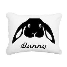 bunny hare rabbit cute Rectangular Canvas Pillow