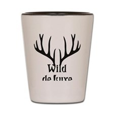 wild de luxe antler stag night party de Shot Glass
