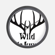wild de luxe antler stag night party de Wall Clock