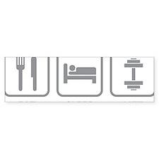 EatSleepLift1C Bumper Sticker