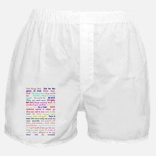 White Slogan Journal Front Boxer Shorts