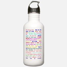 White Slogan Journal F Water Bottle