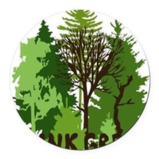 think green save nature earth for Round Car Magnet