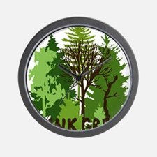 think green save nature earth forest tr Wall Clock