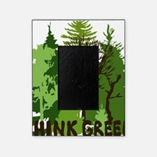 think green save nature earth forest Picture Frame