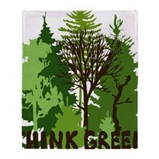 think green save nature earth forest Throw Blanket