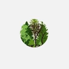think green save nature earth forest t Mini Button