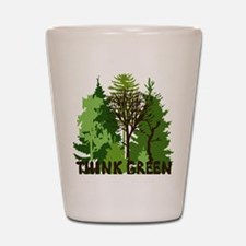 think green save nature earth forest tr Shot Glass