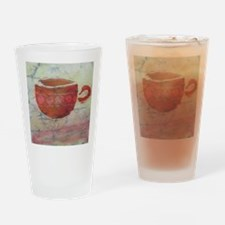 Batik Red Coffee Cup Drinking Glass