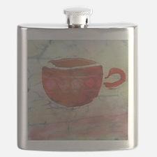 Batik Red Coffee Cup Flask