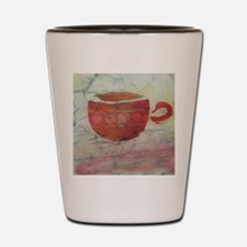 Batik Red Coffee Cup Shot Glass