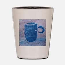 Batik Blue Coffee Cup Shot Glass