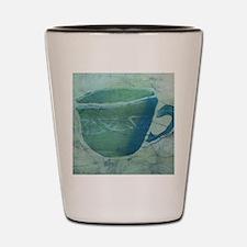 Green Batik Coffee Cup Shot Glass