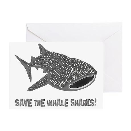 whale shark diver diving scuba Greeting Card