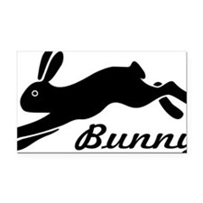 bunny hare rabbit Rectangle Car Magnet