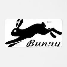 bunny hare rabbit Aluminum License Plate