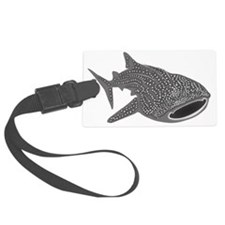 whale shark diver diving scuba Luggage Tag