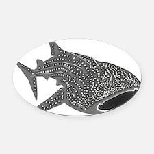 whale shark diver diving scuba Oval Car Magnet