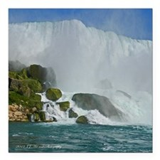 "Bridal Falls Square Car Magnet 3"" x 3"""