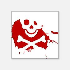 "Skulls N Blood Balloon Square Sticker 3"" x 3"""