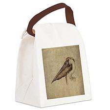 Vintage Pelican Canvas Lunch Bag