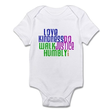 Love Kindness, Walk Gently, Do Justice Infant Body
