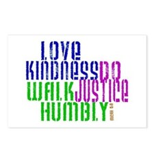 Love Kindness, Walk Gently, Do Justice Postcards (