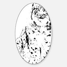 lynx cougar wild cat bobcat Sticker (Oval)