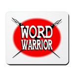 Word Warrior red shield Mousepad