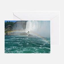 Rainbow and Bridal Falls Greeting Card
