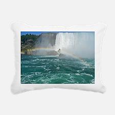 Rainbow and Bridal Falls Rectangular Canvas Pillow