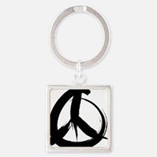 PeaaceSign2A Square Keychain