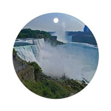 Niagara Falls and Canada Round Ornament