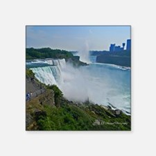 "Niagara Falls and Canada Square Sticker 3"" x 3"""
