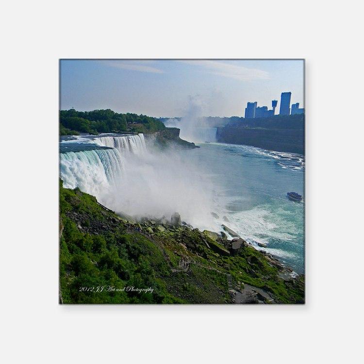 "Niagara Falls Square Sticker 3"" x 3"""