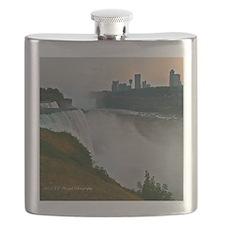 Sunset at Niagara Falls Flask