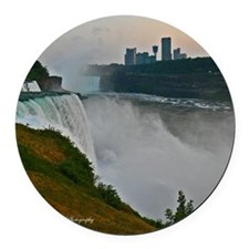 Sunset at Niagara Falls Round Car Magnet