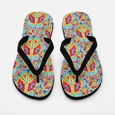 Tie Dye Peace Flip Flops
