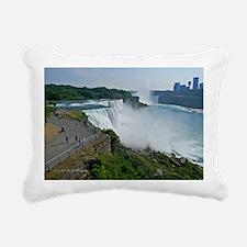 Falls and Canada Rectangular Canvas Pillow