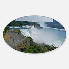 Falls and Canada Sticker (Oval)