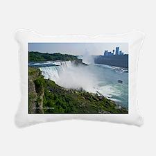 Niagara Falls and Canada Rectangular Canvas Pillow