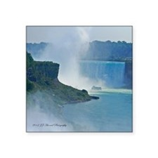 "Horseshoe Falls Square Sticker 3"" x 3"""