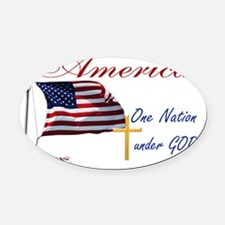 America One Nation Under God Yard  Oval Car Magnet