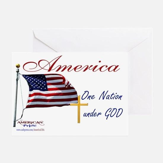 America One Nation Under God Yard Si Greeting Card