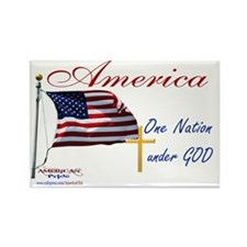 America One Nation Under God Yard Rectangle Magnet