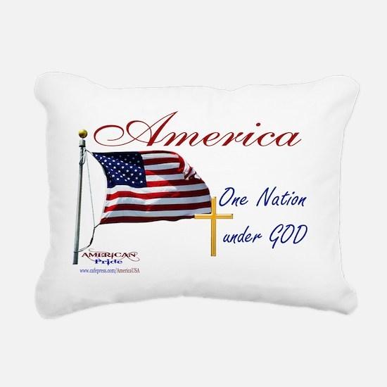 America One Nation Under Rectangular Canvas Pillow
