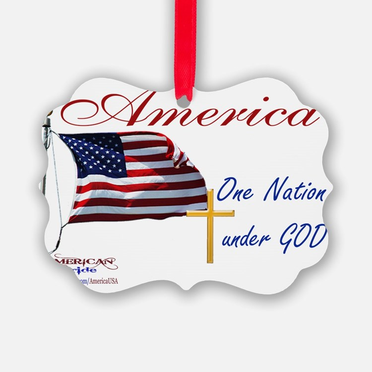 America One Nation Under God Yard Ornament